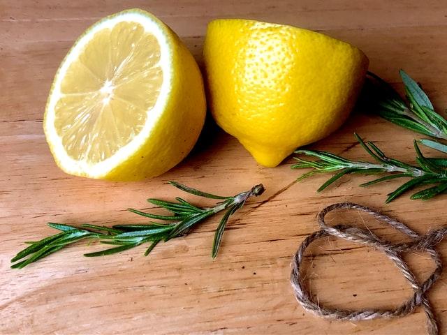 lemon next to bed