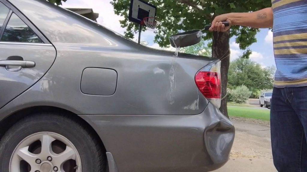 trick car boiling water
