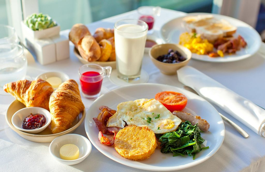 Importance of Breakfast : glass warm water banana