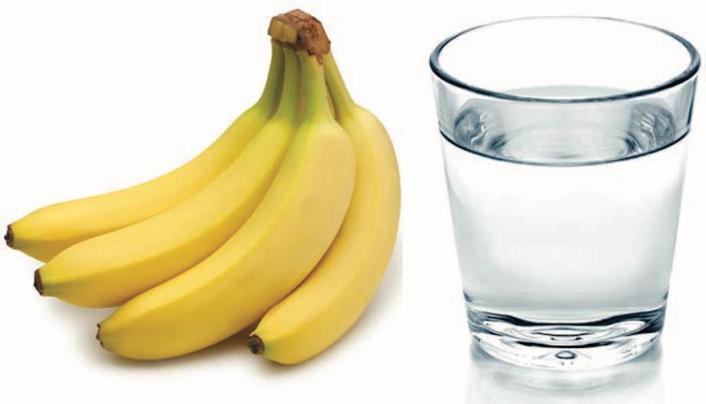 glass warm water banana